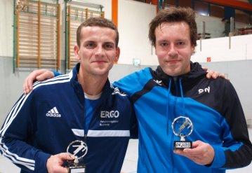 Benjamin Malinka (Bester Spieler) und Sven Nehrhoff (Bester Torschütze) des Turniers; Foto: Manfred Malinka
