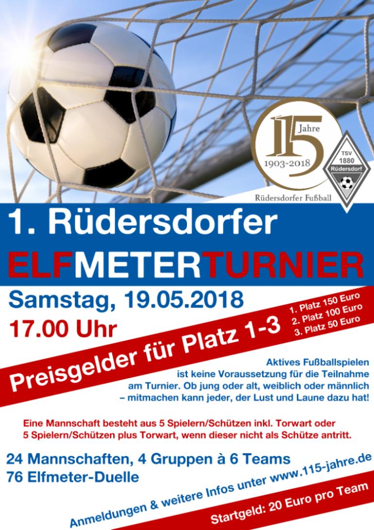 Plakat 1. Rüdersdorfer Elfmeterturnier